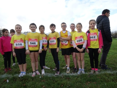 Equipe Poussines et Poussins - Cross de la ligue Carhaix