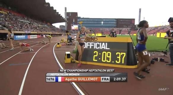 Agathe Guillemot MPM 800m Heptathlon